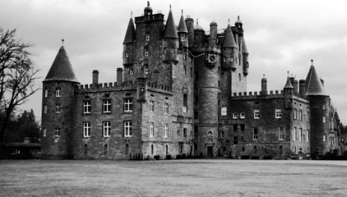 Glamis Castle. The secret, sealed-up room should be visible on the left wall, but is not.